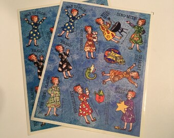 Magic Schoolbus Ms. Frizzle Stickers 2 Sheets Vintage Rare