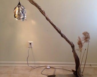 Driftwood floor lamp etsy driftwood floor lamp mozeypictures Choice Image