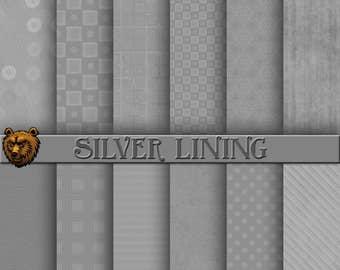 silver digital paper, silver scrapbook paper, silver background