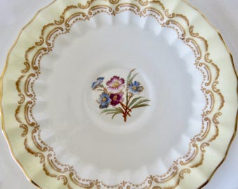 """Royal Worcester """"Cromwell"""" Pattern Orphan Bone China Saucer  Replacement Saucer Only No Teacup"""