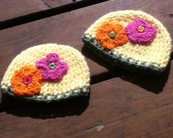 May flower baby beanies