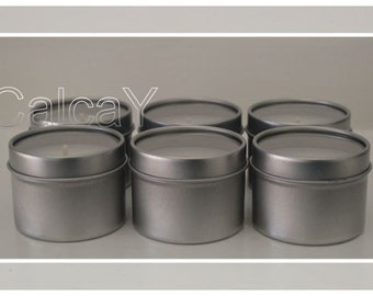 6x Soy Wax Tea light Candle Tins (Tealights) 23 hours - Velvet Rose