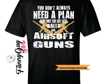 Passionate Airsoft Guns Enthusiast Funny T-shirt