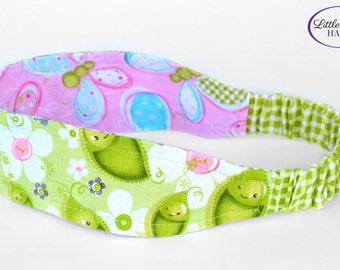 Fabric Reversible Headband- Girls Reversible Headband- Headband- Children's Headband- Girl Headband- Child's Headbands