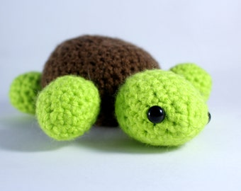 Crochet Turtle - Soft toys - Animals - Sea creatures - Tortoise - Knitted gifts - Childrens