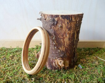 Thin Birch Plywood Bangle Bracelet
