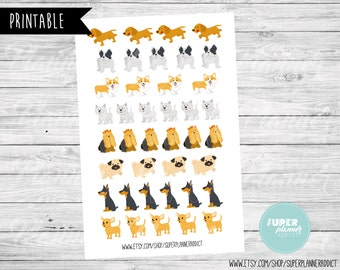 50% OFF SALE dogs Planner Sticker, dogs stickers, dogs stickers, Erin condren stickers, Mambi stickers-COD270