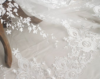 Embroidery Lace Fabric,3D lace,Ivory Bridal lace fabric,Guipure Lace fabric,Wedding Lace Faric,Lingerie Lace,French lace,Tulle lace fabric