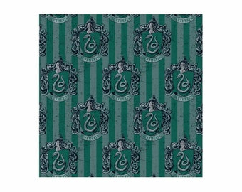 Harry Potter Fabric Slytherin Green From Camelot