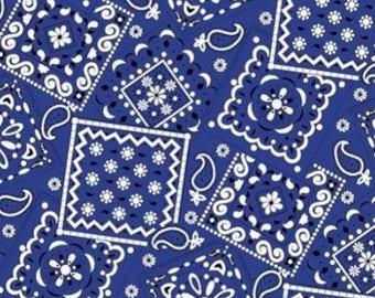 Bandana Fabric- Navy
