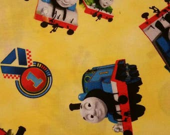 Thomas the Train Steam Team Yellow Fabric From Quilting Treasures