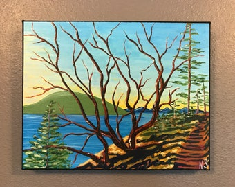 A walk amongst madrone's PAINTING