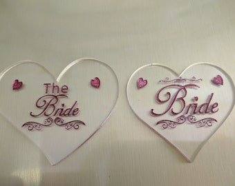 10 Laser Cut Names Acrylic hearts