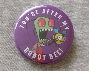 Invader Zim Robot Bee Button
