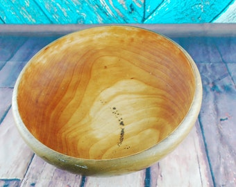Vintage service bowl decorative bowl - Wooden bowl made by WORLD WOODS