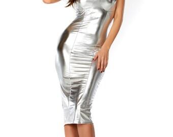 Harper Metallic Midi Dress