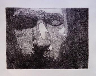 Etching portrait 1 - print