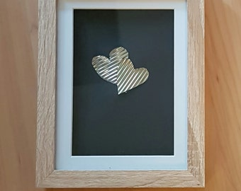Tin can heart frame