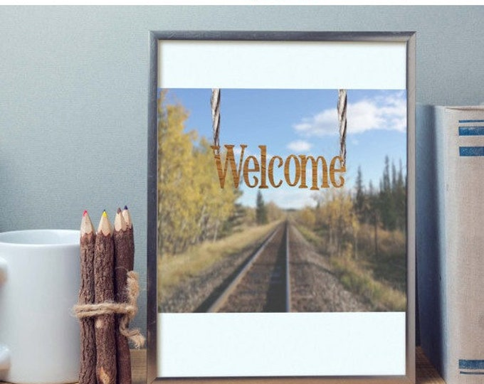 HUGE SALE EVENT rustic wall art, country wall art, welcome sign, wall art, country art, art, digital, welcome, picture, image, creative w...
