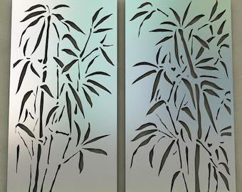 Metal Wall Art Decor - Bamboo metal wall decor - Wall hanging - Metal Wall art