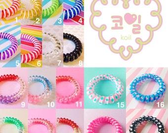 CUSTOM KOILS 4-PACK spiral hair tie bracelet