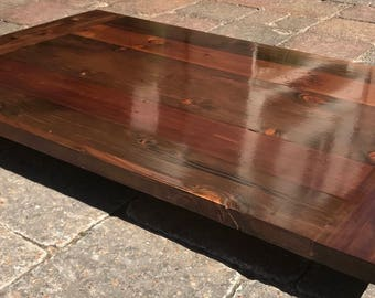Rustic Reclaimed WOOD Table Top MULTI SIZE Bar Restaurant Farmhouse Urban Rustic Shabby Chic