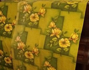 Vintage fabric, 1950s, mid century, retro