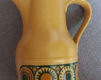 Vintage Kiln Craft Bacchus pottery coffee pot, retro, 1970s
