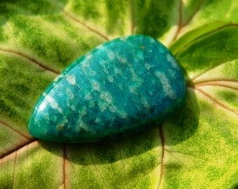 The Most Beautiful Russian Amazonite Cabochon - Natural Russian Amazonite Gemstone 20.30Cts. (28X17X5)mm (AA-3)