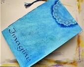 Handmade art journal, watercolor paper, travel journal, mixed media