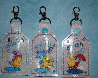 Splish Splash Puddle Jumpers Keychain
