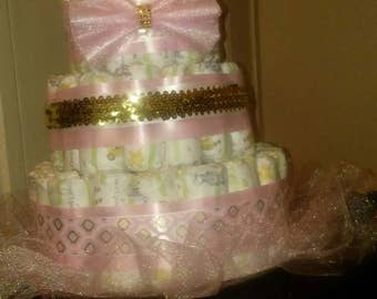 Personalized Diaper cake
