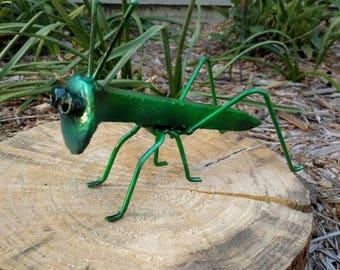 Welded Metal Grasshopper - Railroad spike