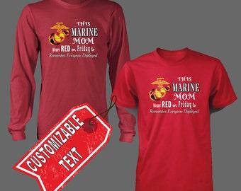 USMC RED Friday t shirt - Customizeable
