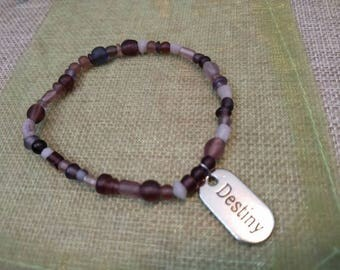 Destiny beaded bracelet -purple bracelet-gifts for her