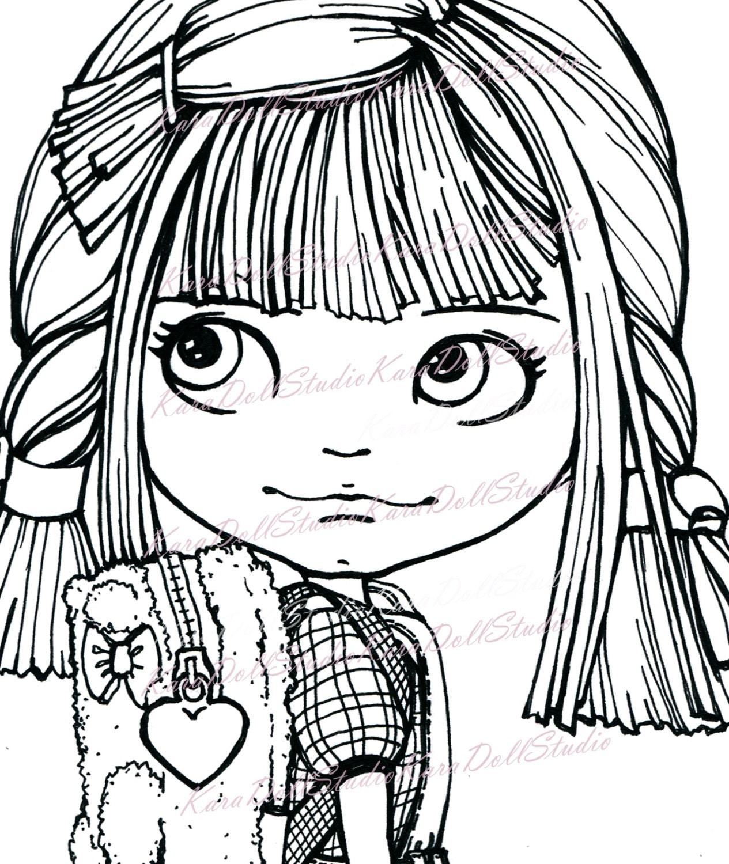becky doll children u0027s stamps coloring blythe dolls dolls