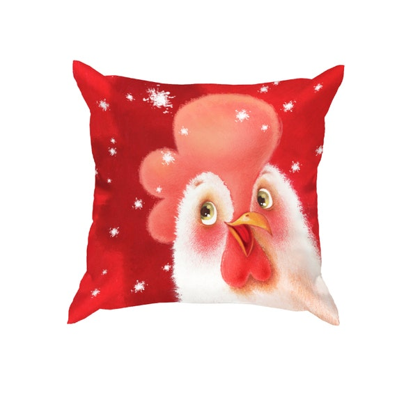 Decorative Pillows Red Pillows Holiday Pillows Home by Batundra
