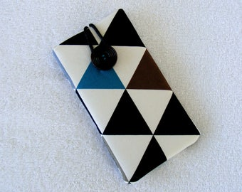 """IPhone Case, IPhone Cover, IPhone 6 Case, Triangle Print,  Black White IPhone 7 Case, Cell Phone Case, Cell Phone Cover, ,  6 1/2""""  x 3 1/2"""""""