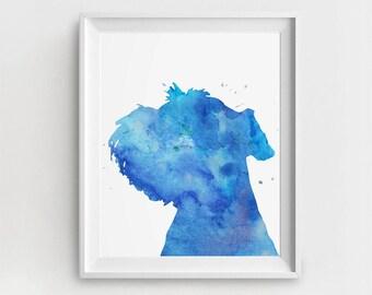 Schnauzer Watercolor, Schnauzer Art Print, Schnauzer Puppy, Schnauzer Wall Décor, Large Art, Schnauzer Painting, Watercolor Schnauzer
