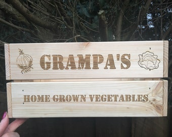 Father's Day  / mothers day vegetable allotment crate