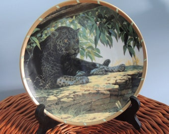 "Collectible Cat Plate, Guy Coheleach's ""Siesta"" Cat Collectors Plate, Royal Cats Plate, Vintage Decorator Plate, Vintage Collectible Plate"