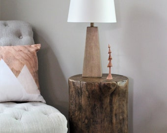 Tree stump table, side table, bedside table