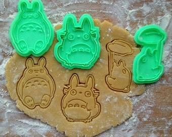 Totoro cookie cutters set. 3 cookie stamps in set. Studio Ghibli cookies. Totoro, O-Totoro, Chibi-Totoro cookie cutters