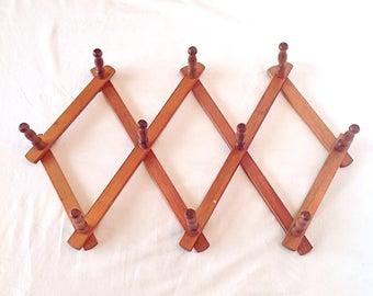 Vintage Accordian Peg Rack