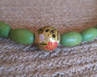 Beautiful wooden bead necklace
