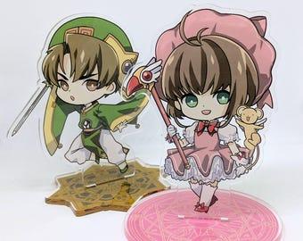"""Sakura & Syaoran 4"""" Acrylic Stands"""