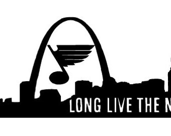 St. Louis Blues Decal