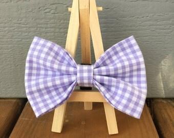 Purple dog bow tie
