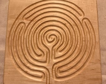 wooden finger labyrinth