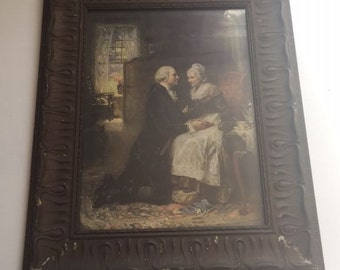 Vintage Print George Washington Martha Washington, Don Troiani